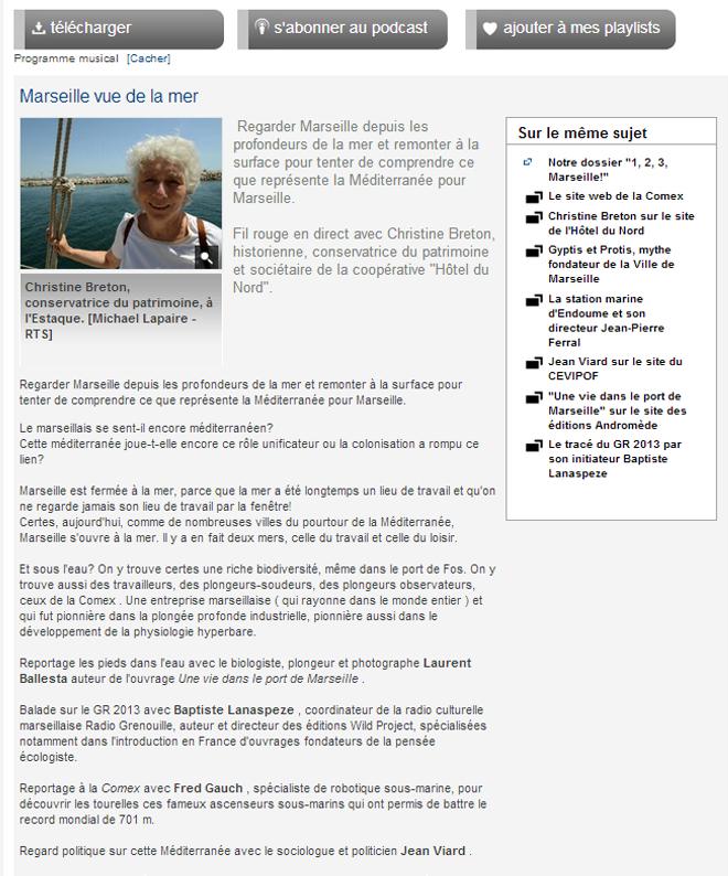 Marseille vue de la mer_itw avec christine breton
