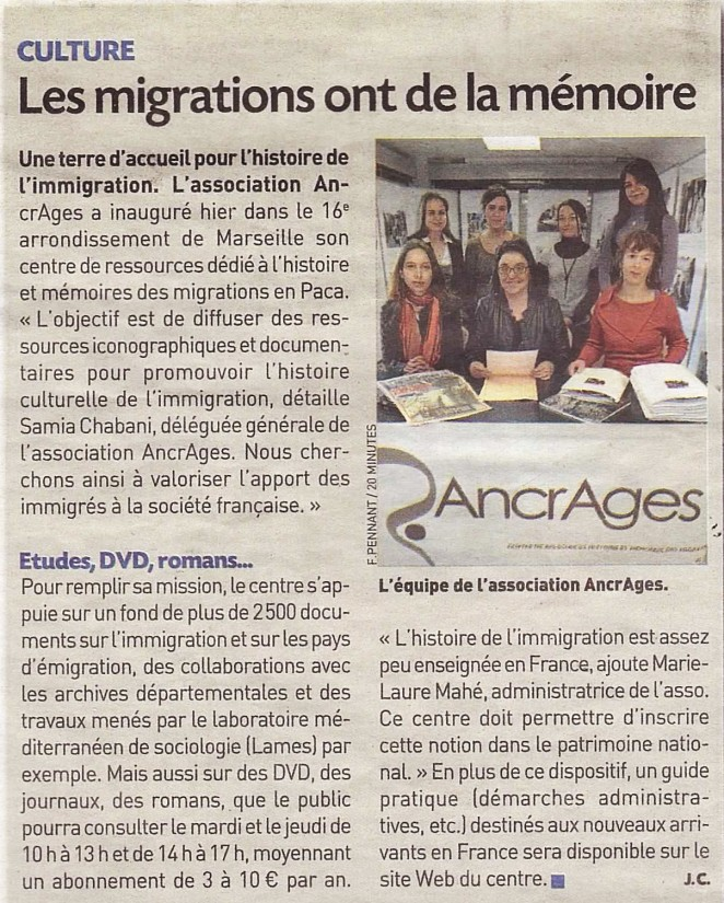 les migrations ont la memoire_20 minutes_janvier2012