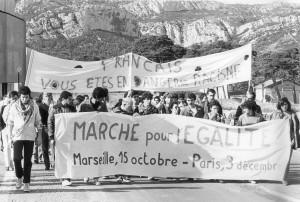 Marche pour l'égalité 0012 Marseille le 15 octobre 1983 Départ de la marche pour l'égalité