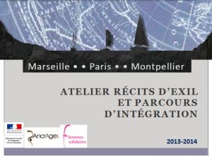 1ère page pésentation ATELIER RECITS EXIL PARCOURS INTEGTRATION
