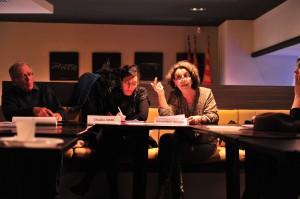 Raymond Bossard (administrateur Ancrages), Chadia Arab et Véronique Marzo