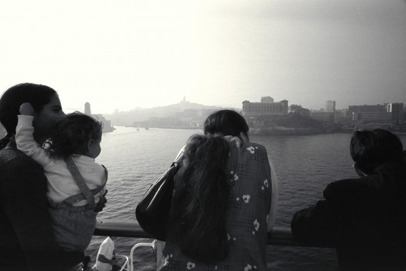 Marseille depuis le car-ferry Napoléon - © J. Windenberger - 21/08/1976