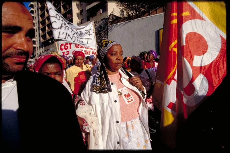 opération Solidarités à la mairie des 13è et 14è art. pour les bénéficiaires du R.M.I.( Revenu Minimum d'Insertion) avec la Banque Alimentaire du Vaucluse ( 1F le repas) - © J. Windenberger - 6/11/1989