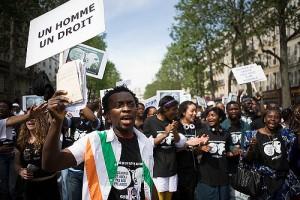Manifestation pour les 160 ans de l'abolition de l'esclavage