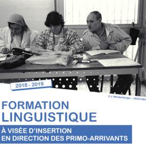 Formation linguistique à visée d'insertion pour primo-arrivants, du Lundi 12 novembre 2018 au 26 juin 2019
